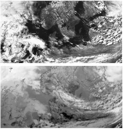 Visual and infrared satellite image