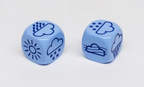 Dices with weather symbols