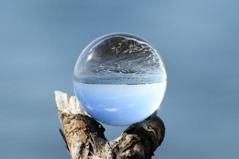 Image of sea and crystal ball